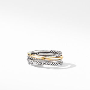 Crossover Narrow Ring with 18K Yellow Gold alternative image