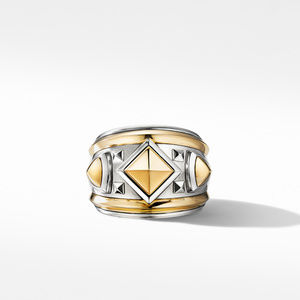 Bold Renaissance Wide Ring with 18K Yellow Gold alternative image