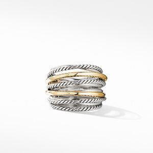 Crossover Wide Ring with 18K Yellow Gold alternative image