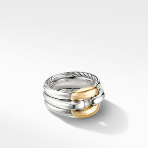 Thoroughbred® Cushion Link Ring with 18K Yellow Gold