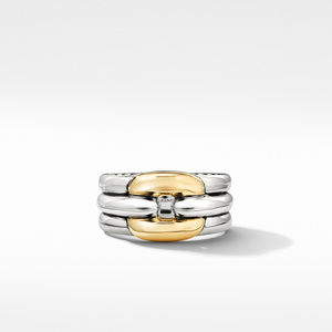 Thoroughbred® Cushion Link Ring with 18K Yellow Gold alternative image