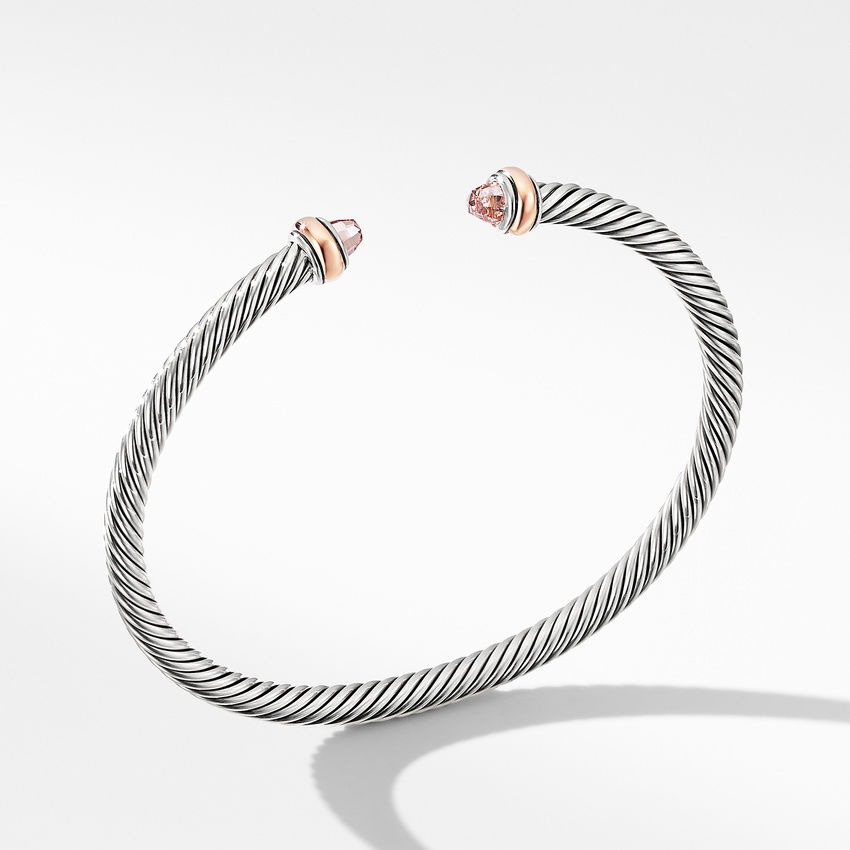 Cable Classics Collection® Bracelet with Morganite and 18K Rose Gold
