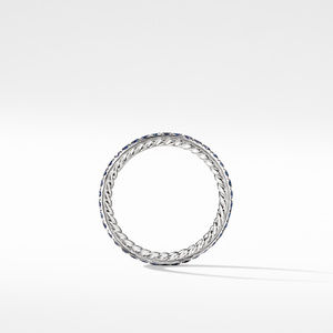 DY Eden Band Ring in Platinum with Blue Sapphires alternative image