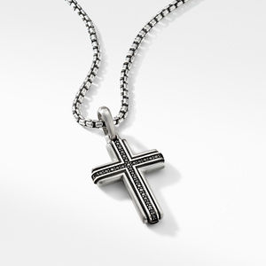 Deco Cross Pendant with Pavé Black Diamonds alternative image