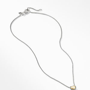 Cable Cookie Classic Heart Necklace with 18K Yellow Gold alternative image