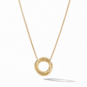The Crossover Collection® Mini Pendant Necklace in 18K Yellow Gold with Diamonds alternative image