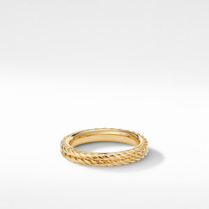 Maritime® Two-Row Rope Band Ring in 18K Yellow Gold