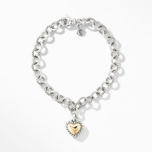 Cable Cookie Classic Heart Charm Bracelet with 18K Yellow Gold alternative image
