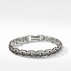 Deco Chain Link Bracelet with Pavé Black Diamonds