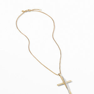Crossover XL Cross Necklace in 18K Yellow Gold with Diamonds alternative image
