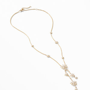 Starburst Cluster Necklace in 18K Yellow Gold with Pavé Diamonds alternative image