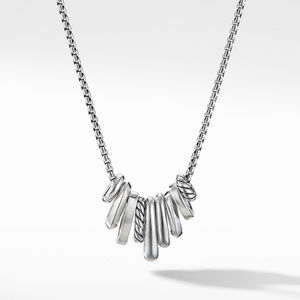 Stax Rondelle Pendant Necklace with Diamonds alternative image