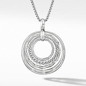 Stax Medium Pendant Necklace with Diamonds