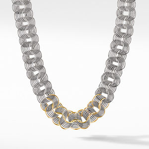 DY Origami Medium Linked Necklace with 18K Yellow Gold