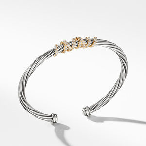 Helena Center Station Bracelet with Diamonds and 18K Gold