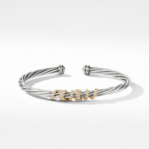 Helena Center Station Bracelet with Diamonds and 18K Gold alternative image