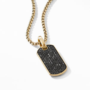 Streamline® Tag in 18K Yellow Gold with Pavé Black Diamonds alternative image