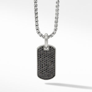 Streamline® Tag with Pavé Black Diamonds