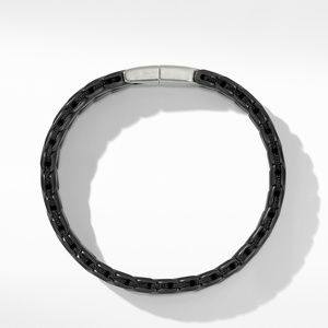 Chevron Wide Woven Bracelet in Black Titanium alternative image