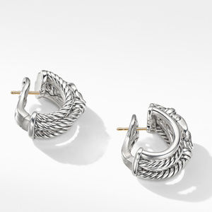 Buckle Shrimp Earrings with Diamonds alternative image