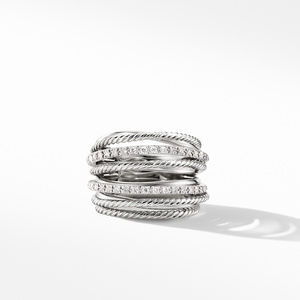 The Crossover Collection® Wide Ring with Diamonds alternative image
