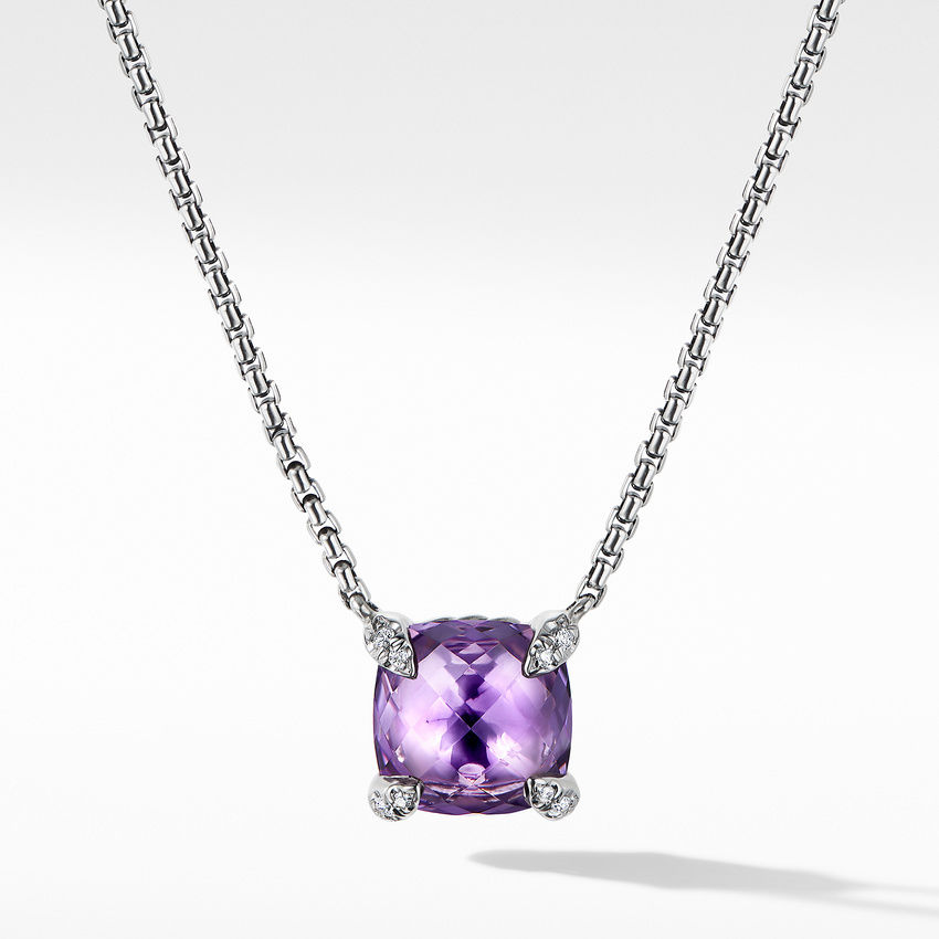 Chatelaine® Pendant Necklace with Amethyst and Diamonds