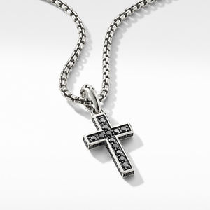 Cross Pendant with Pavé Black Diamonds alternative image
