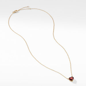Heart Pendant Necklace in 18K Yellow Gold with Garnet alternative image