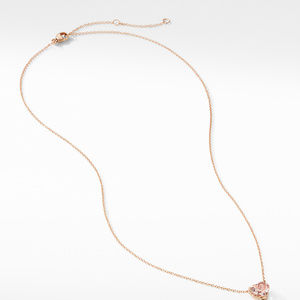 Heart Pendant Necklace in 18K Rose Gold with Morganite alternative image
