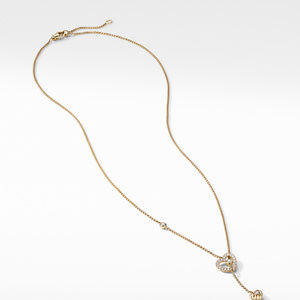 Heart Y Necklace in 18K Yellow Gold with Diamonds alternative image