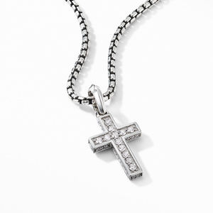 Cross Pendant with Pavé Diamonds alternative image
