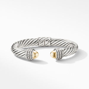 Cable Bracelet with 18K Yellow Gold Domes and Diamonds alternative image