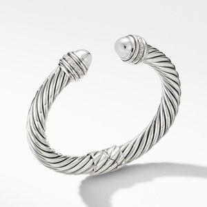 Cable Bracelet with Diamonds