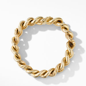 Curb Chain Bracelet in 18K Yellow Gold alternative image