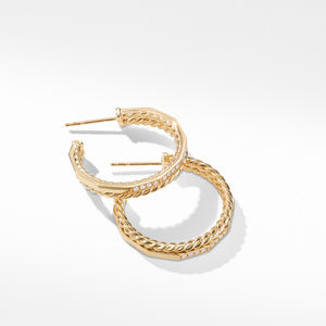 Stax Hoop Earrings with Diamonds in 18K Gold, 25mm alternative image