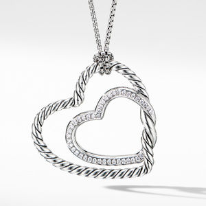 Continuance® Heart Necklace with Pavé Diamonds