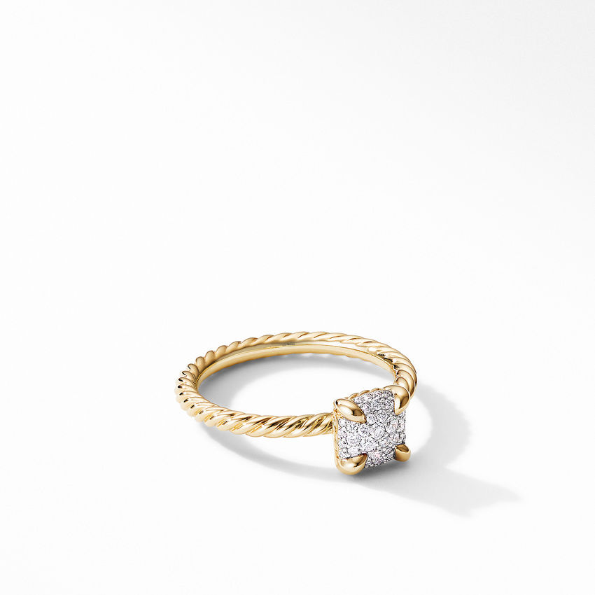 Chatelaine® Ring in 18K Yellow Gold with Full Pavé Diamonds