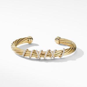 Helena Center Station Bracelet in 18K Yellow Gold with Diamonds alternative image
