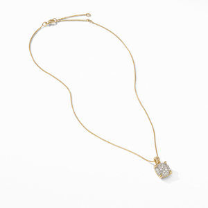 Chatelaine® Pendant Necklace in 18K Yellow Gold with Full Pavé Diamonds alternative image