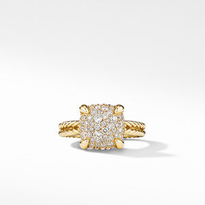Chatelaine® Ring in 18K Yellow Gold with Full Pavé Diamonds alternative image