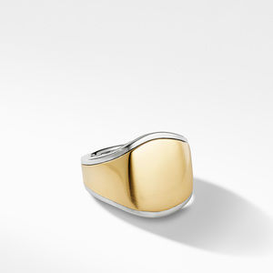 Streamline® Signet Ring with 18K Yellow Gold