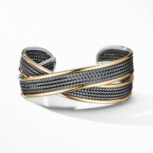 DY Origami Narrow Cuff Bracelet in Blackened Silver alternative image