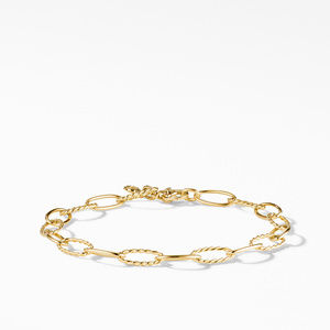 Stax Oval Link Bracelet in 18K Yellow Gold