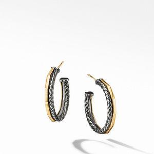 Stax Hoop Earrings in Blackened Silver