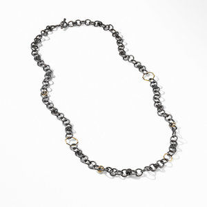 Stax Black and Gold Round Link Necklace alternative image