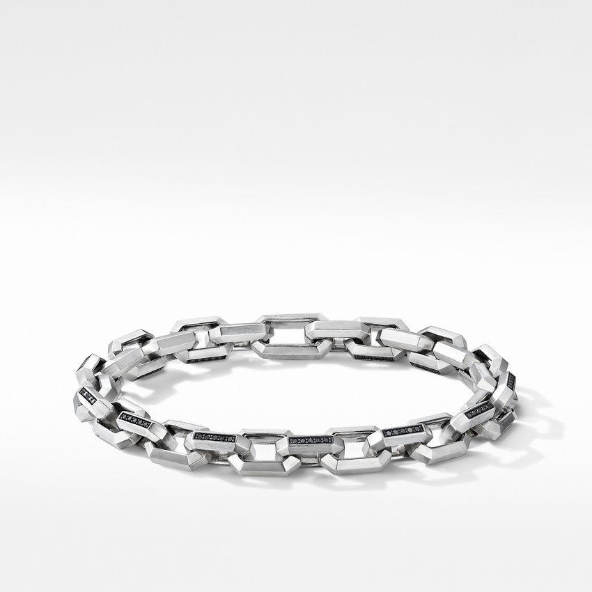 Heirloom Chain Link Bracelet with Pavé Black Diamonds