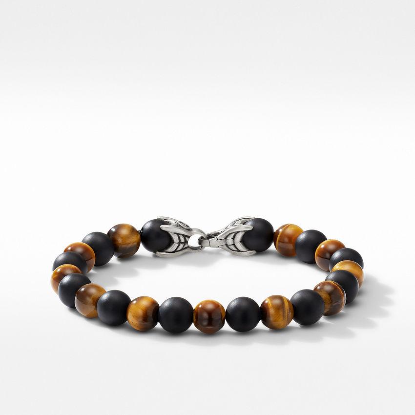 Spiritual Beads Bracelet with Tiger's Eye and Black Onyx