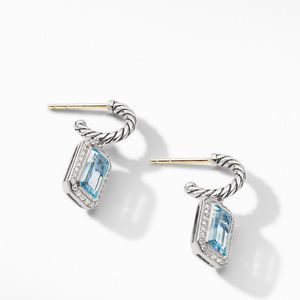 Novella Drop Earrings with Blue Topaz and Pavé Diamonds alternative image
