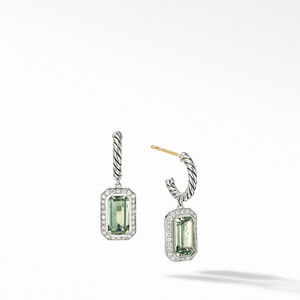 Novella Drop Earrings with Prasiolite and Pavé Diamonds