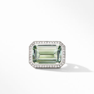 Novella Statement Ring with Prasiolite and Pavé Diamonds alternative image